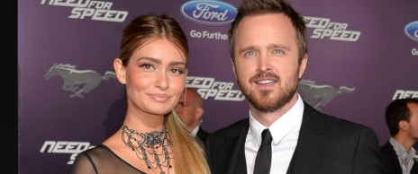 Gty Aaron Paul Lauren Parsekian Sr Wife