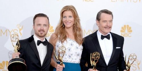 Lan Ape Ustv Emmy Awards Breaking Bad Aaron Paul Anna Gunn Bryan Cranston Aaron Paul