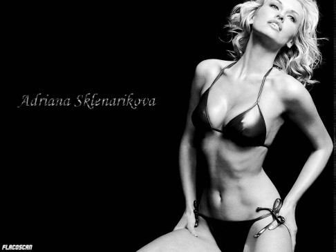 Adriana Sklenarikova Black And White Bikini Wallpaper Customity Adriana Sklenarikova