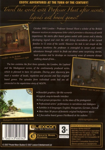 Agon The Mysterious Codex Windows Back Cover