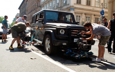 Good Day To Die Hard Movie Mercedes Benz Class With Camera Stuff Good Day To Die Hard