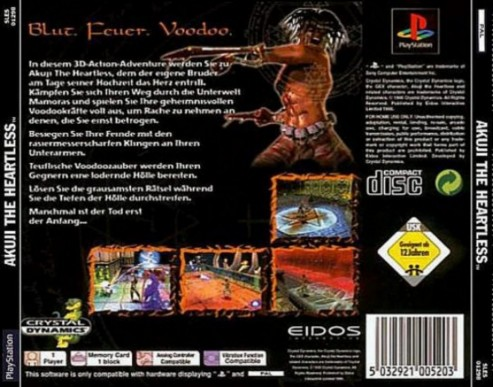 Akuji The Heartless Back Cover