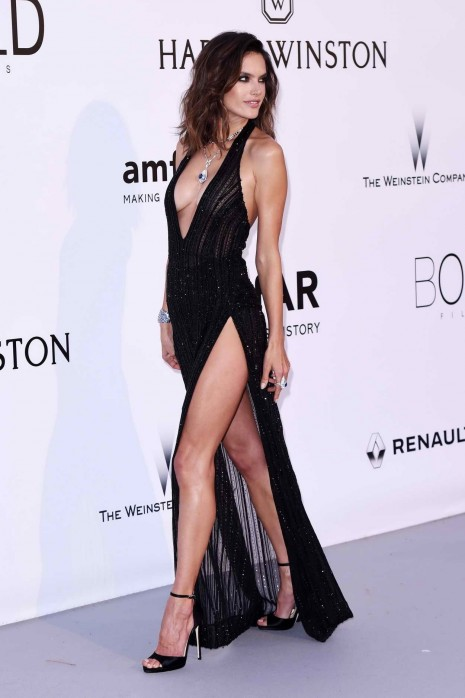 Alessandra Ambrosio At Amfars Rd Cinema Against Aids Gala In Cannes Alessandra Ambrosio