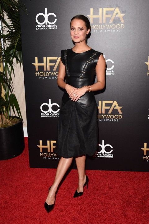 Alicia Vikander On Red Carpet Th Annual Hollywood Film Awards In Beverly Hills Alicia Vikander