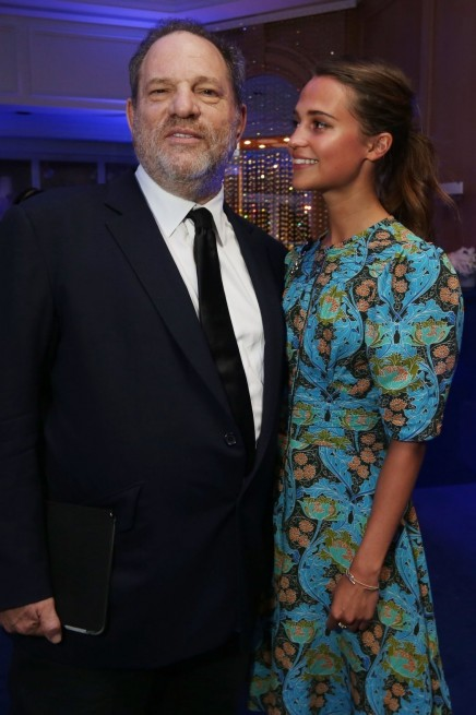Harvey Weinstein Alicia Vikander Swarovski Dinner Cannes And Alexander Skarsgard