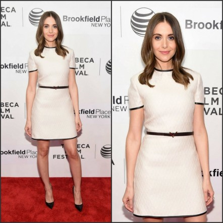 Alison Brie In Valentino At The Sleeping With Other People Tribeca Film Festival Premiere