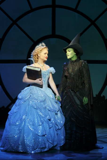 Amanda Jane Cooper As Glinda And Emily Koch As Elphaba Photo By Joan Marcus Amanda Jane Cooper