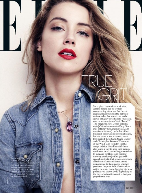 Amber Heard Elle Magazine July Issue And Photos