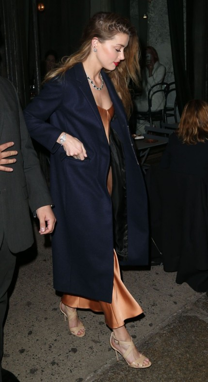 Amber Heard Tiffany Blue Book Dinner In New York City April