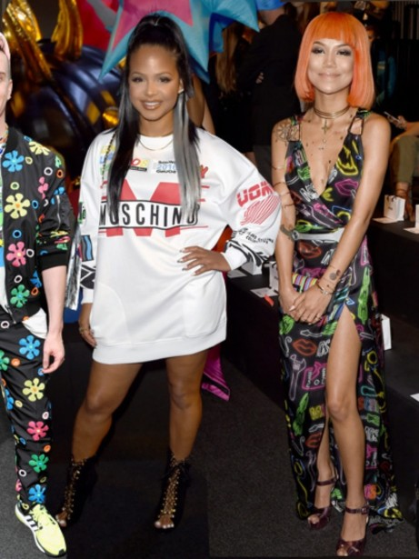 On The Scene Made Las Moschino Men And Resort Show Featuring Miss Usa Deshauna Barber Amber Rose Alexandra Shipp And More Amber Rose