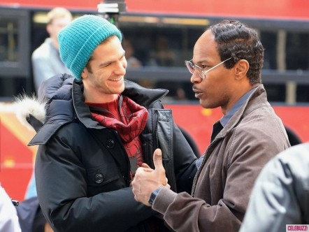Andrew Garfield Jamie Foxx Spiderman Nyc Spiderman