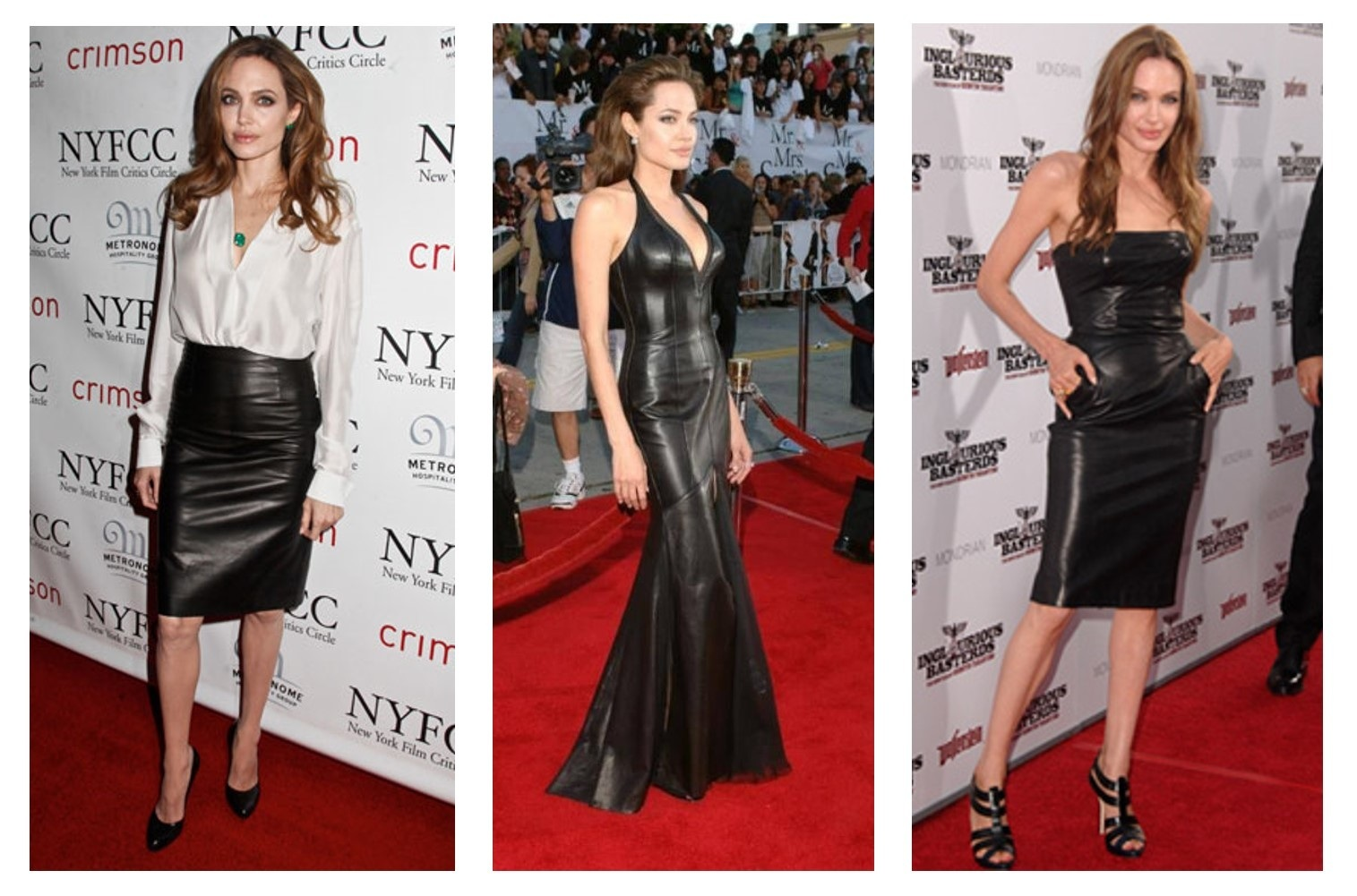 Angelina Jolie Leather Red Carpet Of The Realm