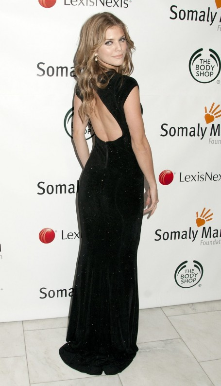 Annalynne Mccord At The Somaly Mam Foundation Open Back Dress With Sequins