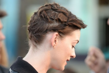 Anne Hathaway Rio Hairstyle Updo Main