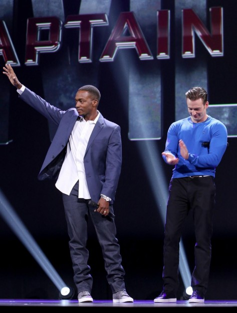 Chris Evans And Anthony Mackie At Captain America Civil War Anthony Mackie