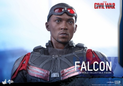 Hot Toys Falcon Anthony Mackie Portrait Falcon Head Sculpt Anthony Mackie