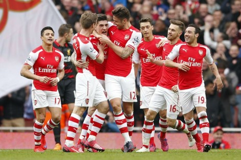Arsenal Fc Celebrates Win In This File Photo Arsenal