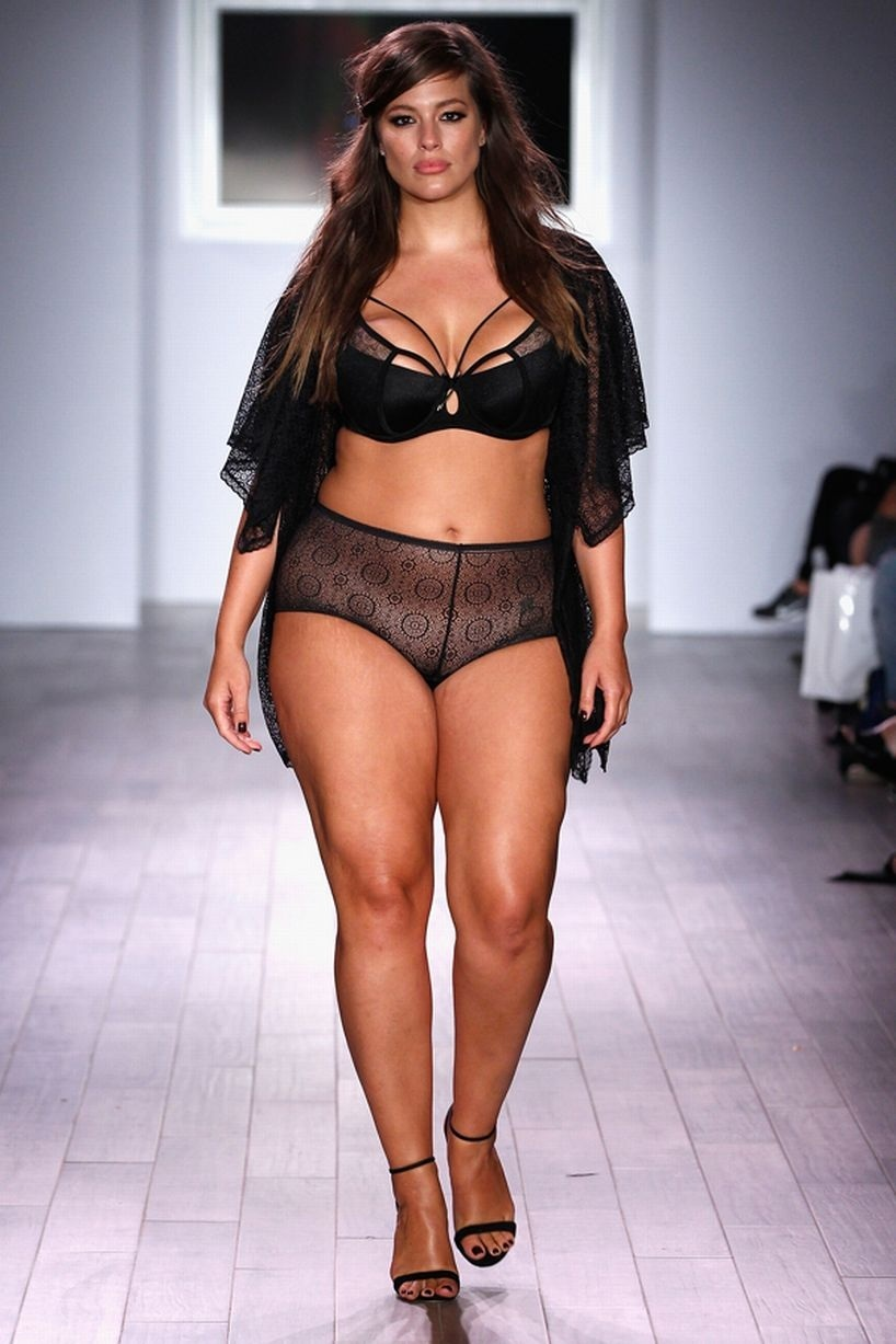 As Ey Graham Walks The Runway As Addition Elle Presents Fallholiday Rtw And As Ey Graham Lingerie Collection As Ey Graham