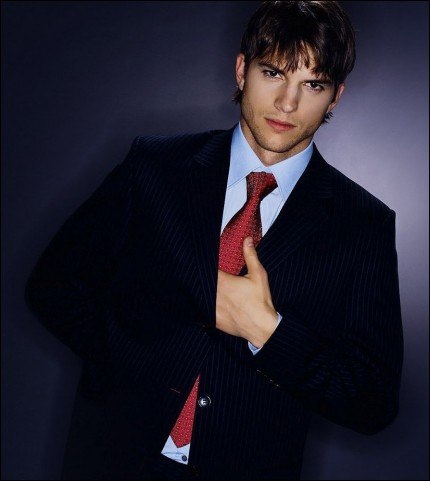 Ashton Kutcher In Suit Fashion