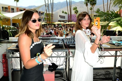 There Was Plenty Of Action During The Day Atlanta De Cadenet Taylor And Alexa Chung Hung In The Dj Booth At The Refinery Aok Party Beach