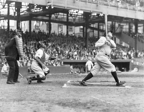Babe Ruth At Bat Babe Ruth