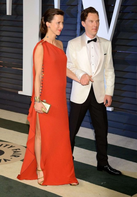 Sophie Hunter And Benedict Cumberbatch Vanity Fair Oscar Party