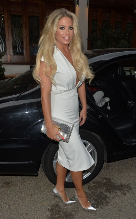 Bianca Gascoigne Leaves Gaslight Club In London Bianca Gascoigne