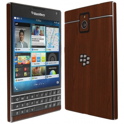 Blackberry Passport Dark Wood Skin Protector Gif Blackberry