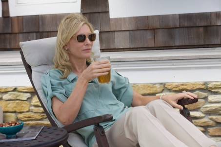 Blue Jasmine Cate As Jasmine Louging On The Patio With Drink In Hand Blue Jasmine