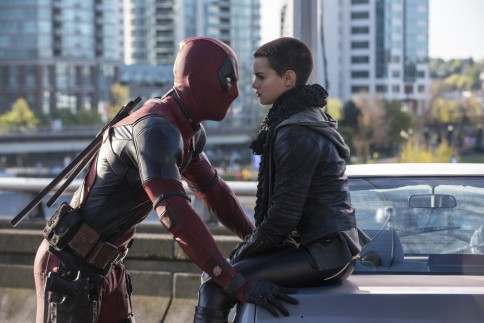 Still Of Ryan Reynolds And Brianna Hildebrand In Deadpool Large Picture Brianna Hildebrand
