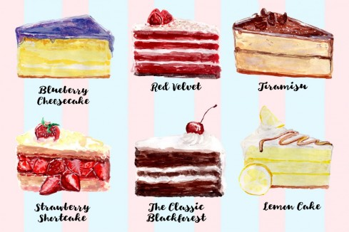 Cake My Day Free Watercolor Clipart Prev Cake