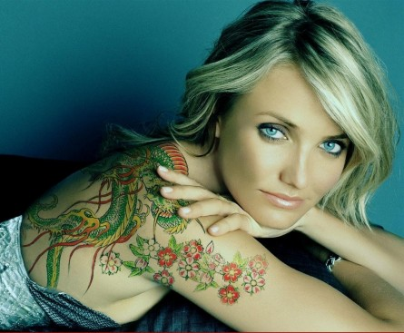 Cameron Diaz Tattoo Body