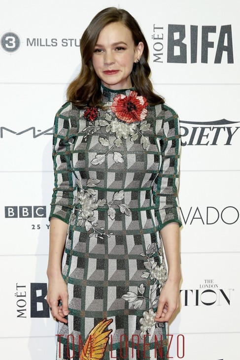 Carey Mulligan Moet British Independent Film Awards Red Carpet Fashion Gucci Tom Lorenzo Site Carey Mulligan