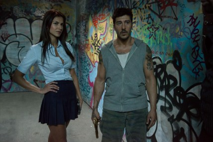 Still Of David Belle And Catalina Denis In Brick Mansions Large Picture Catalina Denis