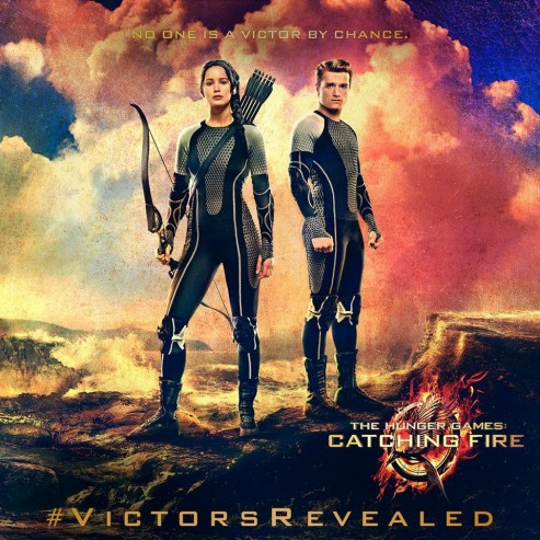 Hunger Games Catching Fire Poster Banner Cast