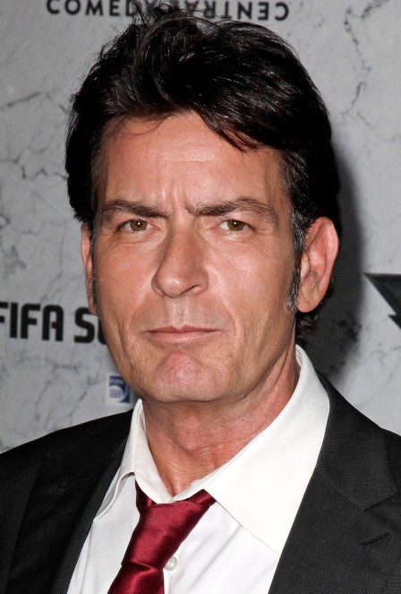 Charlie Sheen White Shirt Red Tie Black Jacket Winning Quote Charlie Sheen