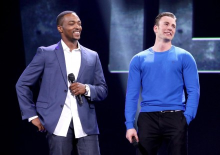 Chris Evans And Anthony Mackie At Event Of Captain America Civil War Large Picture