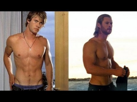 Chris Hemsworth Before After Body