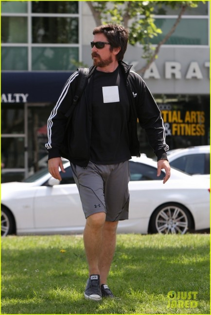 Christian Bale Steps Out In His Workout Gear For Meeting Christian Bale