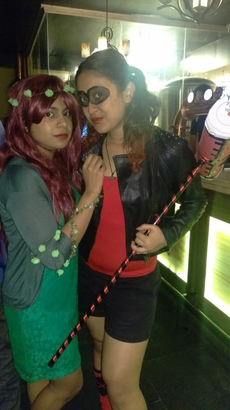 Cosplayers Sherina Miranda Poison Ivy Debby Morale Harley Quinn Comic Book Villains