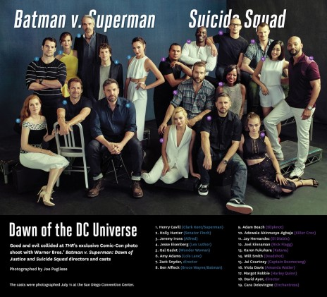 Batman Superman And Suicide Squad Casts Appear In Comic Con Most Star Studded Phot Movies