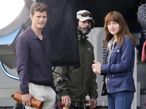 Jamie Dornan Et Dakota Johnson Sur Le Tournage De Fifty Shades Of Grey Vancouver Le Octobre Exact Films