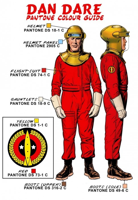 Dan Dare Flightsuit Colour Guide Movie