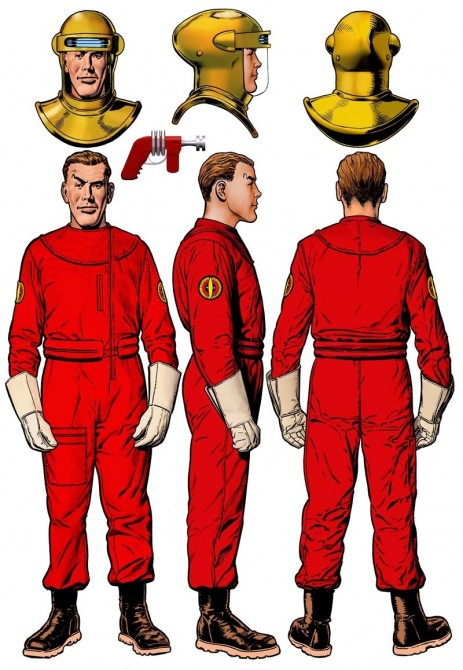 Dan Dare Guide Red Flightsuit Colour Movie