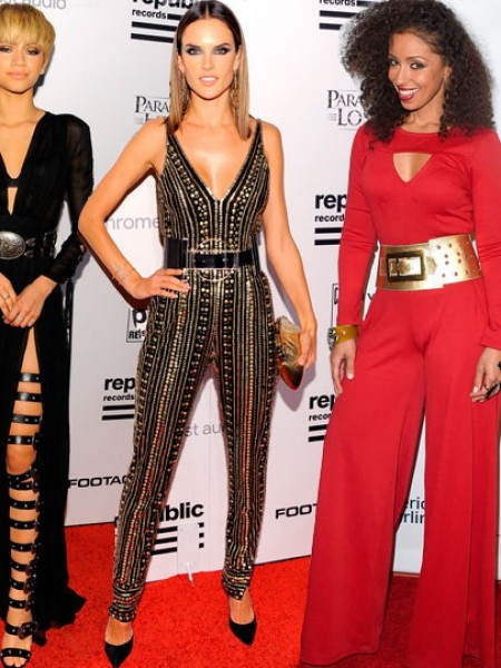 On The Scene The Republic Records Grammy After Party Featuring Miranda Kerr In Spring Versace Green Dress Dania Ramirez In Parker Jumper The Weeknd In Givenchy And More Dania Ramirez