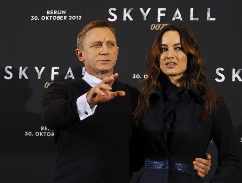 Cast Members Daniel Craig And Berenice Marlohe Pose For Photographers During Photocall To Promote Their Film Skyfall In Berlin October Films