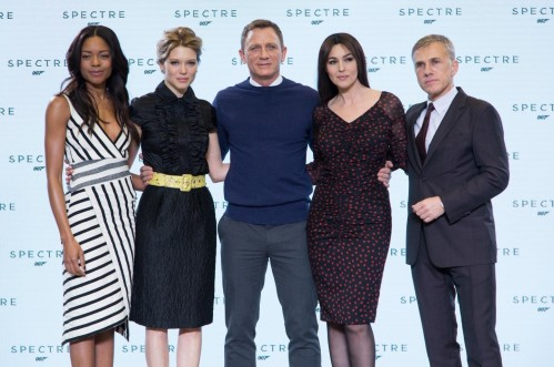 Monica Bellucci Daniel Craig Naomie Harris Christoph Waltz And Seydoux At Event Of Spectre