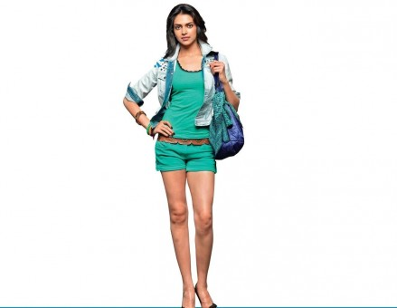 Download Wallpapers Of Deepika Padukone In Green Dress In White Shirt And Blue Jeans