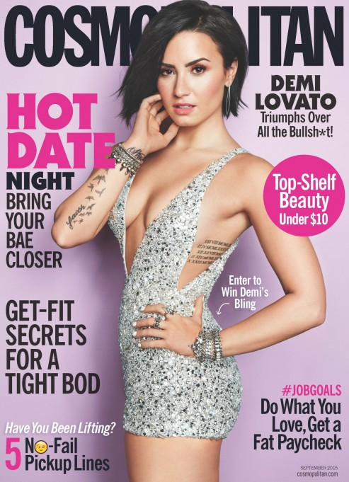 Cosmo September Demi Lovato Newsstand