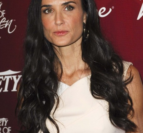 Demi Moore Long Black Hair